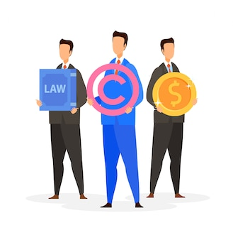 Legal consulting firm flat vector illustration