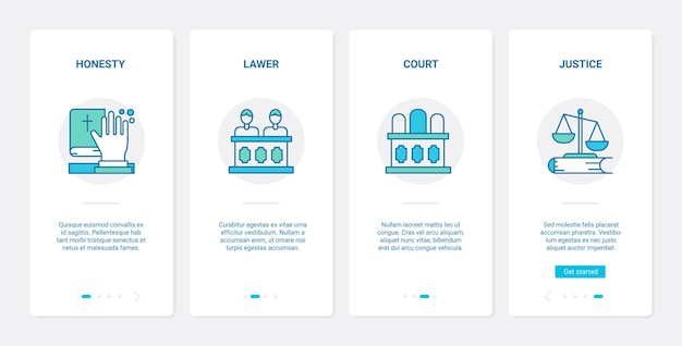 법률 사법 법원 세션 개념 ux ui 온 보딩 모바일 앱
