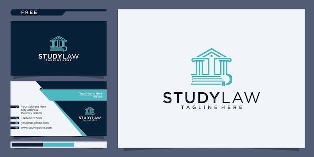 法的なロゴデザインのインスピレーション、建物と本を組み合わせる