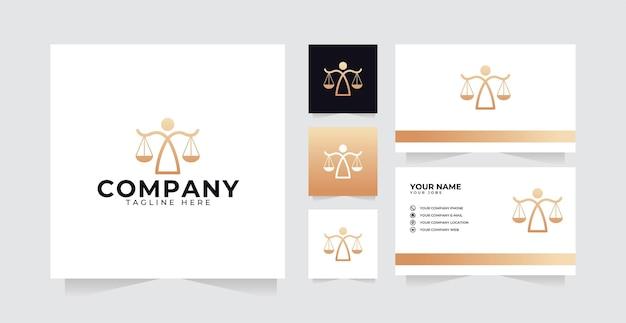 Legal logo design inspiration with pillar logo luxury design and business card
