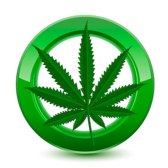 Legal marijuana green sign