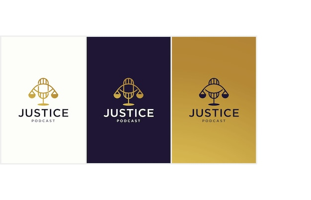 법률 행사 및 법률 토론에 적합한 법률 팟캐스트 로고 개념, 법률 팟캐스트 법률 사무소 로고 디자인 이미지, 팟캐스트 컨설턴트.