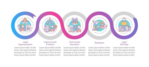 法務サービスカテゴリインフォグラフィックテンプレート