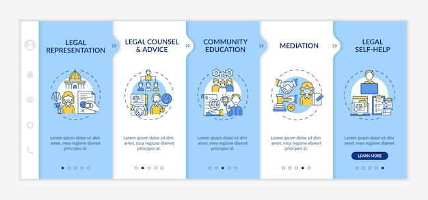 Legal services categories onboarding template
