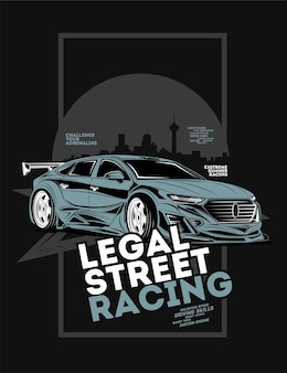 Legal street racing, super car