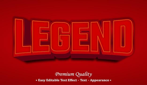 Legend 3d font style effect