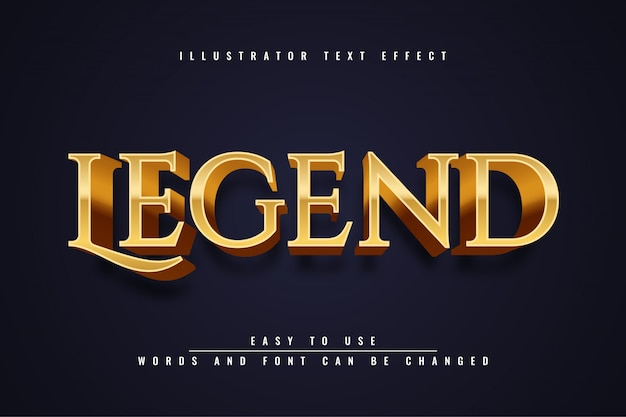 Legend -  editable text effect