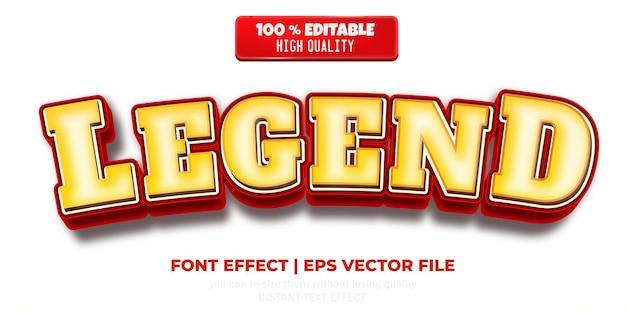 Легенда текстовый эффект редактируемый комикс и смешной текстовый стиль