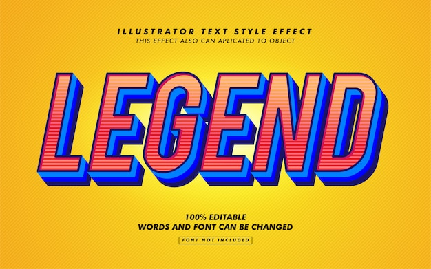 Legend text style effect mockup