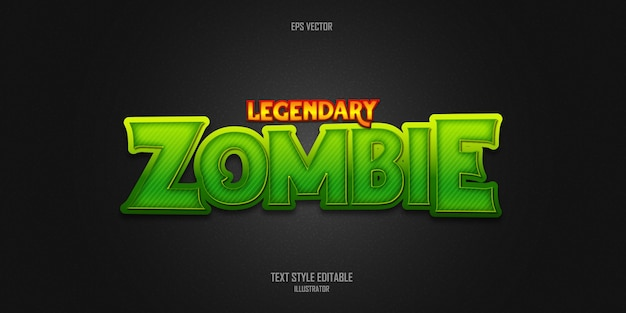 Legendary zombie text style effect