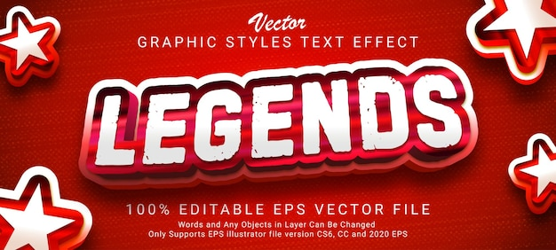 Legends editable text style effect