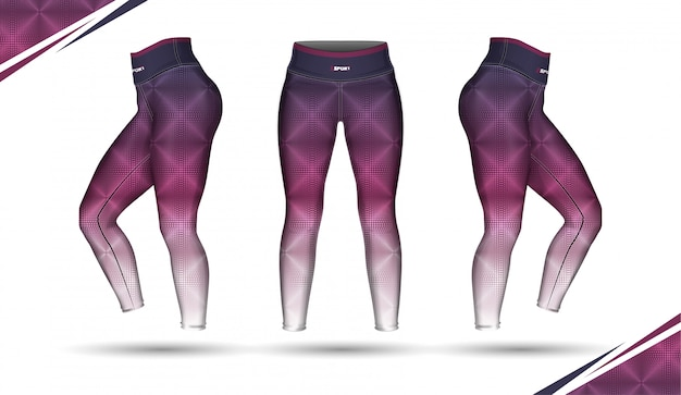 Leggings pants training fashion illustration vector with mold