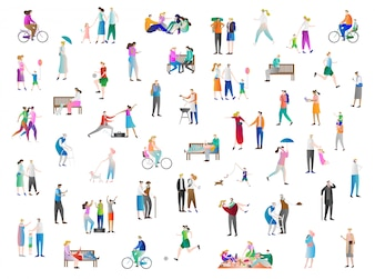 Leisure people vector collection
