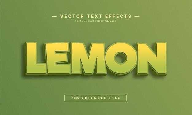 Lemon 3d editable text style