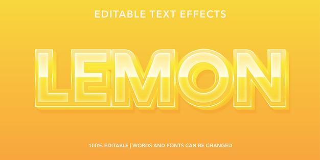 Лимонный редактируемый текстовый эффект в стиле 3d