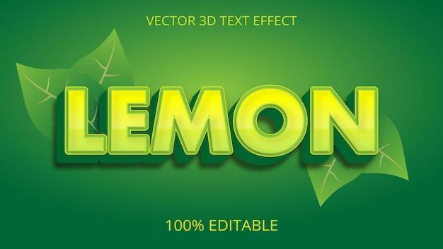 Lemon 3d text effect creative design