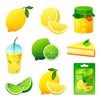 レモンとライムのフルーツ食品