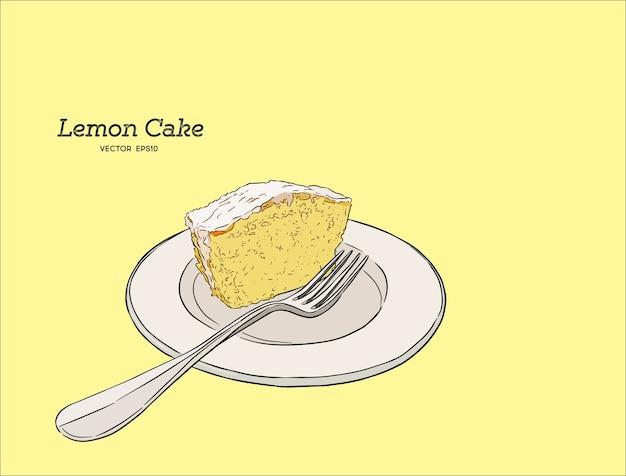 ケシの種と砂糖グラスを入れたレモンケーキ