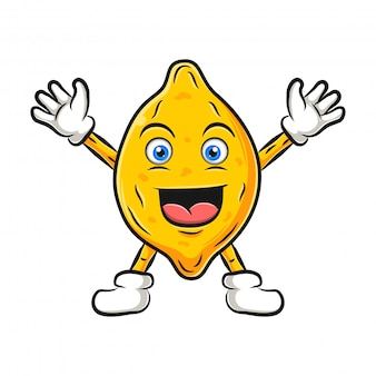 Lemon character design or lemon mascot