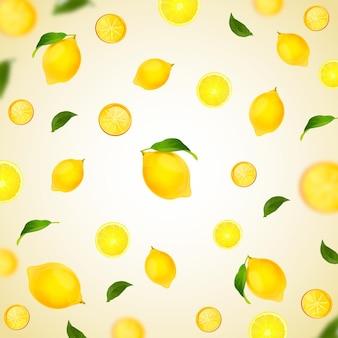 Лимонный концептуальный фон