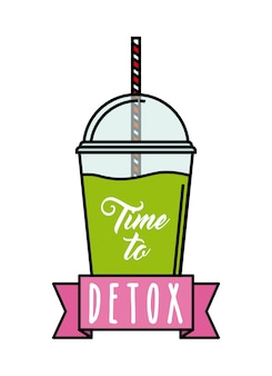 Lemon detox icon. smoothie and juice design. vector graphic
