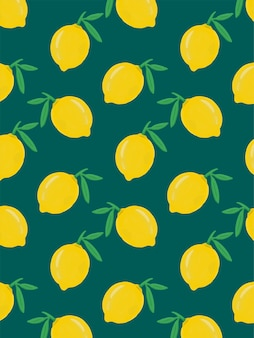Lemon drawn pattern