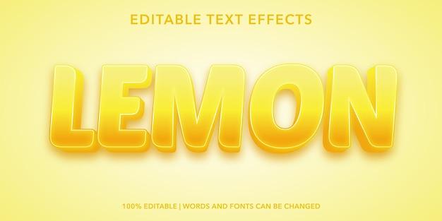 Lemon editable text effect