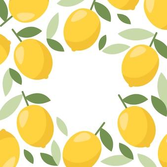 Lemon frame. citrus lemonade