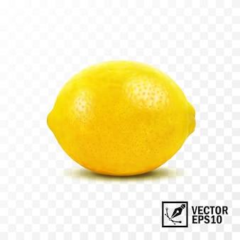 Лимонный фрукт, 3d реалистичный изолированный, редактируемая сетка ручной работы