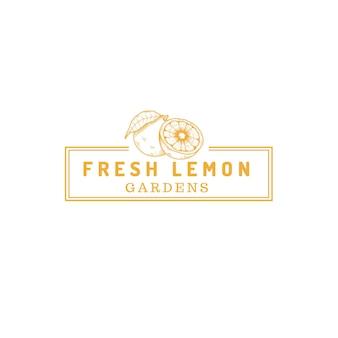 Lemon fruit farm store logo