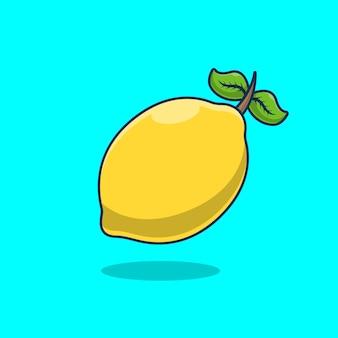 レモンフルーツアイコンベクトル図