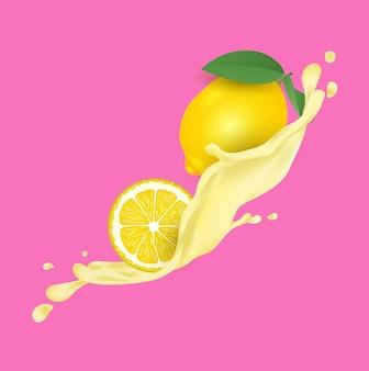 Lemon fruit juice splash