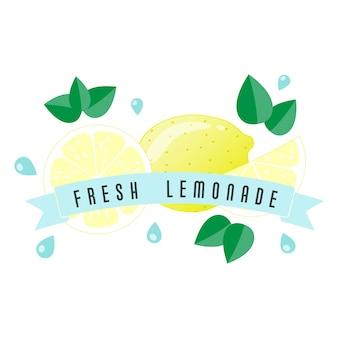 Lemon fruit label and banner