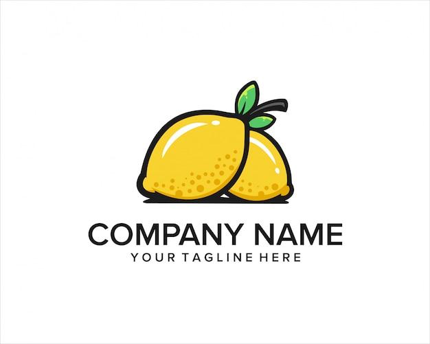 Lemon fruit logo
