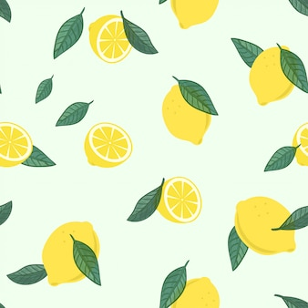 Lemon fruit pattern