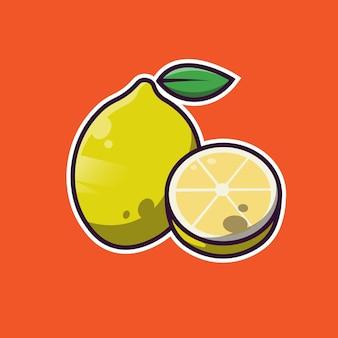 레몬 과일 심플한 디자인
