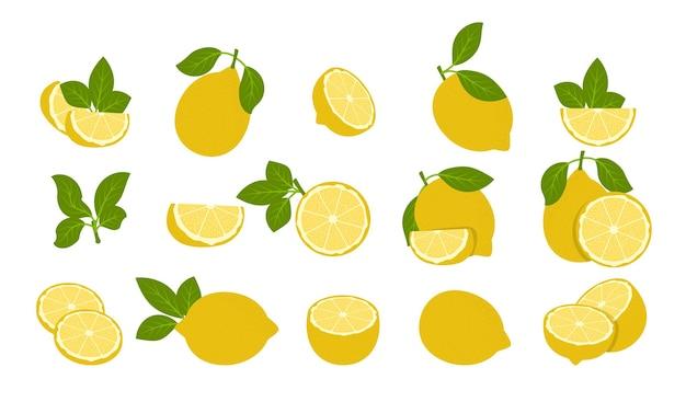 白で隔離されるレモンの果実