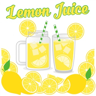 Lemon juice design vector background  illustration