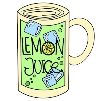 レモンジュースのフレッシュドリンクのインスピレーション