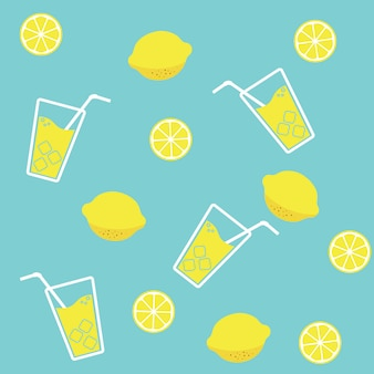 Lemon juice, summer fresh background