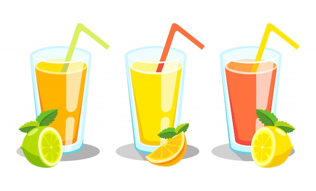Lemon and lime lemonade. lemonade green illustration