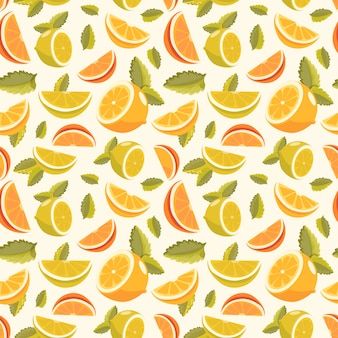 Lemon and lime lemonade seamless pattern. lemonade green seamless background.