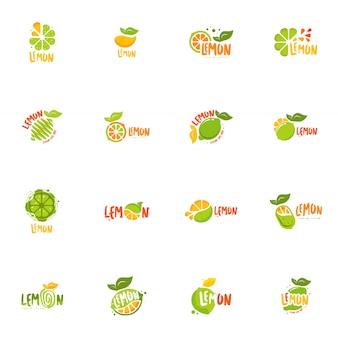 Lemon logo set