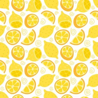 Lemon and orange seamless pattern