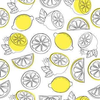 Лимонный узор фона