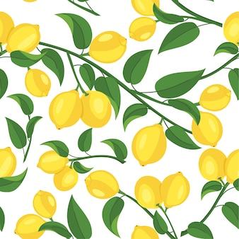 Лимонный узор бесшовные текстуры