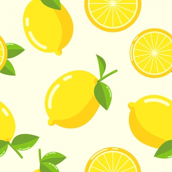 Lemon pattern seamless vector