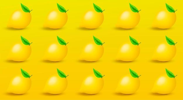 레몬 패턴입니다. 트렌디