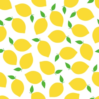 Lemon seamless pattern background vector design