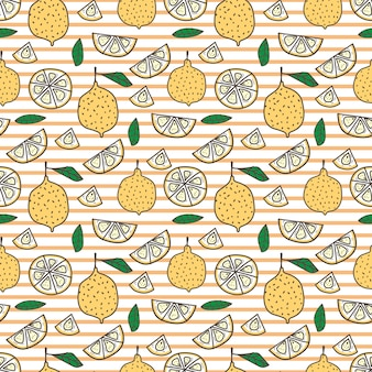Lemon seamless pattern background